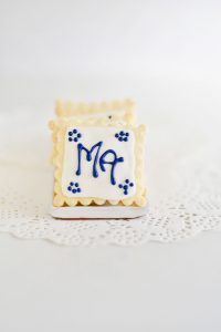 Blue and White Iced Biscuits