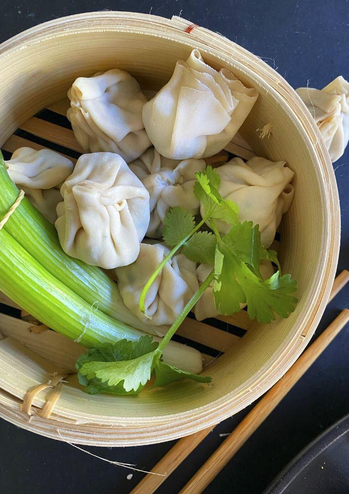 Sesame Crusted Chinese Dumplings