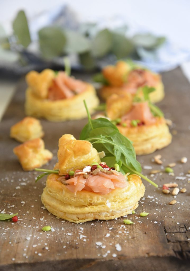 Smoked Trout and Goats Cheese Tartlets