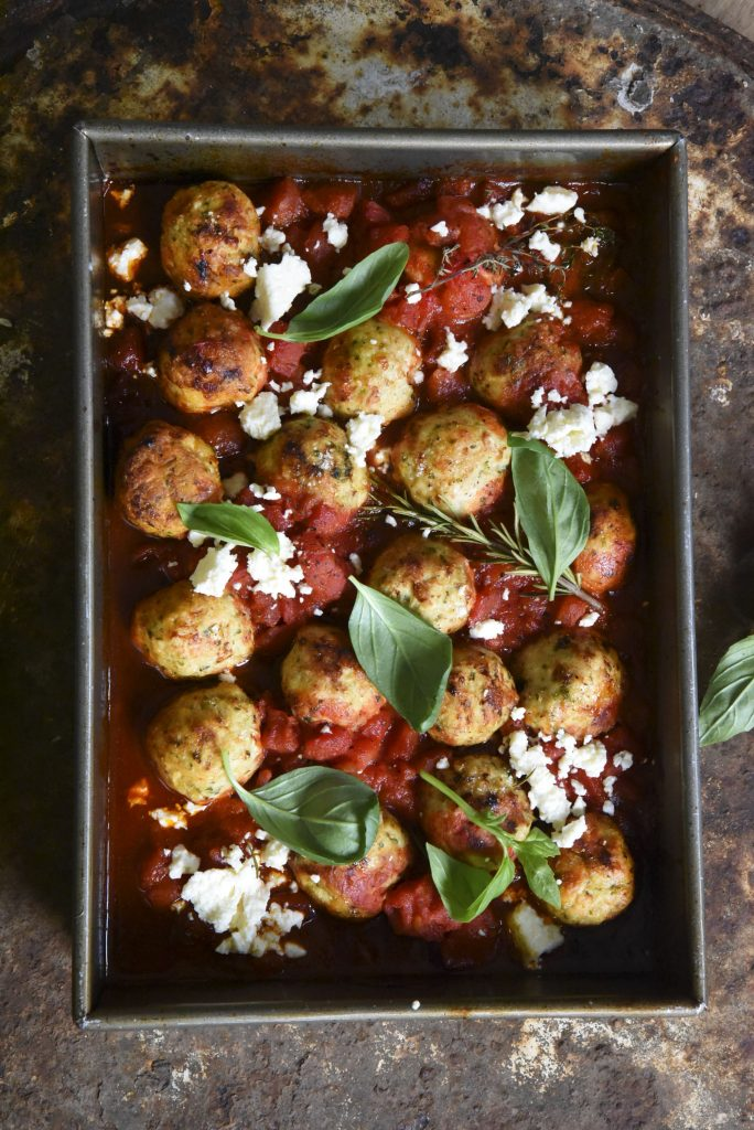 Chicken Meatballs in Tomato Sauce