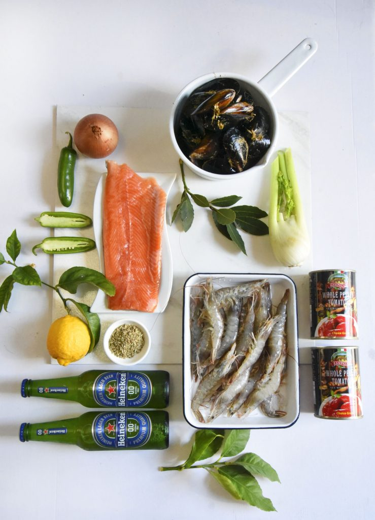 Ingredients for Cioppino