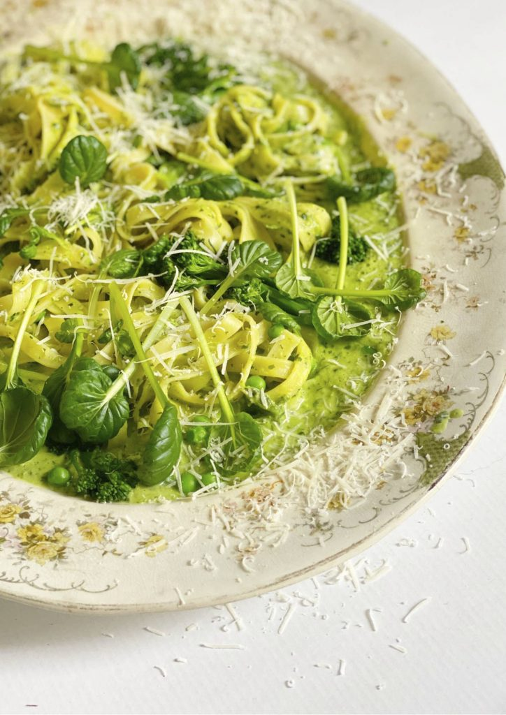 Tagliatelle with Green Vegetables