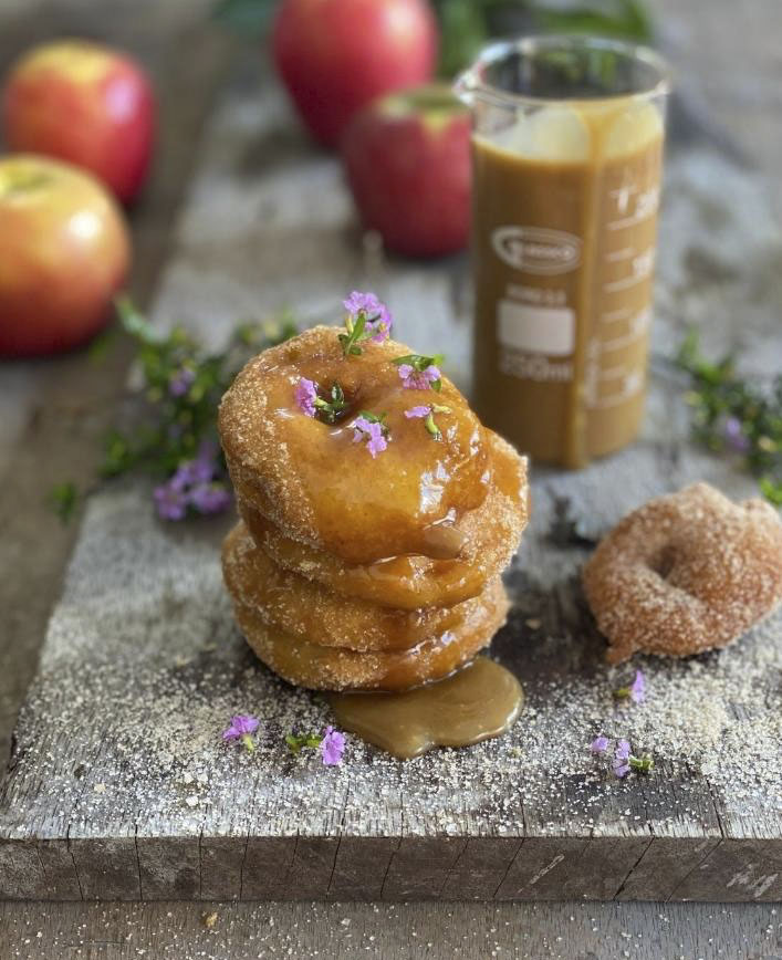 Apple Fritters with Caramel