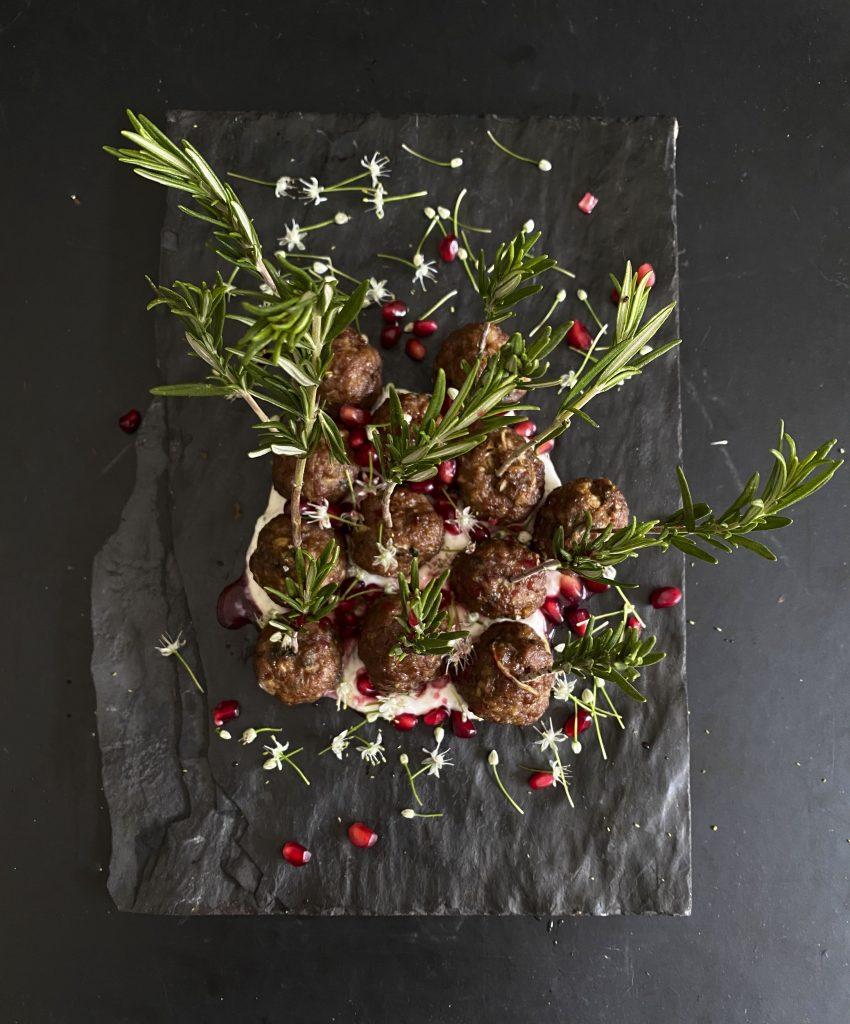 Lamb Meatballs with Pomegranate Glaze