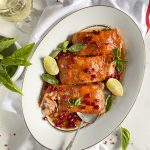 Cranberry Glazed Christmas Salmon