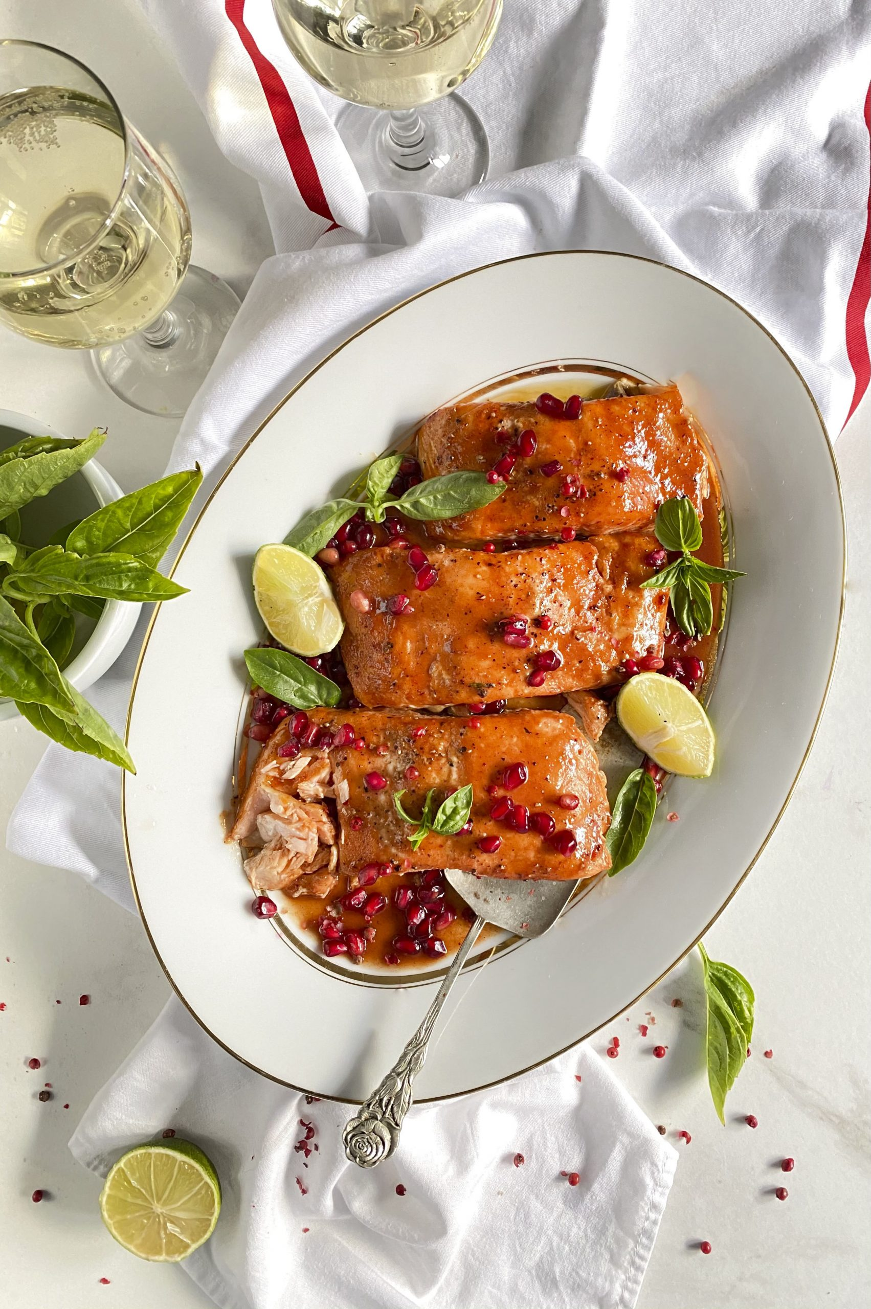 Cranberry Glazed Christmas Salmon