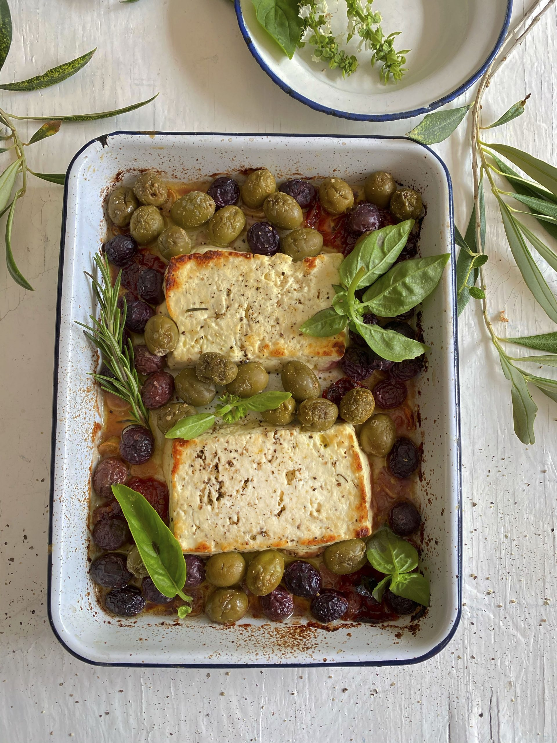 Greek-Style baked Feta with Olives