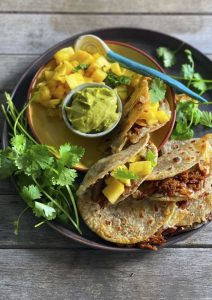 Soft Beef Tacos with Pineapple