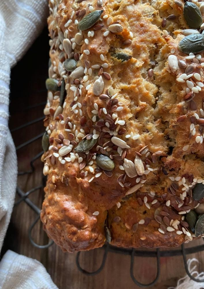 No Yeast Wholewheat Seed Loaf