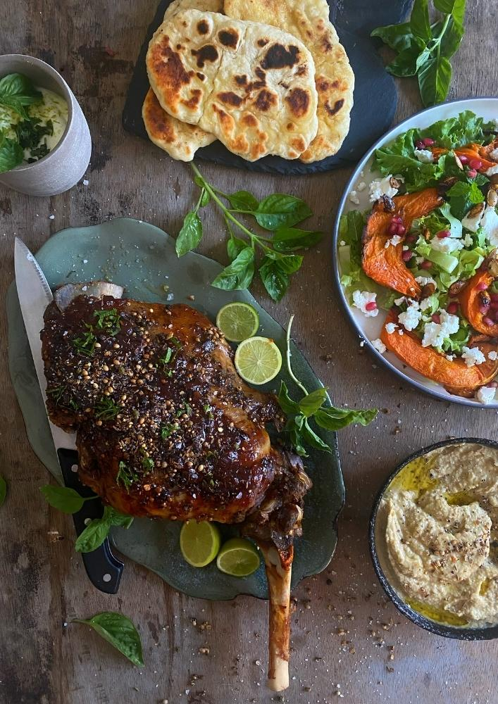 Slow-Cooked Moroccan Leg of lamb