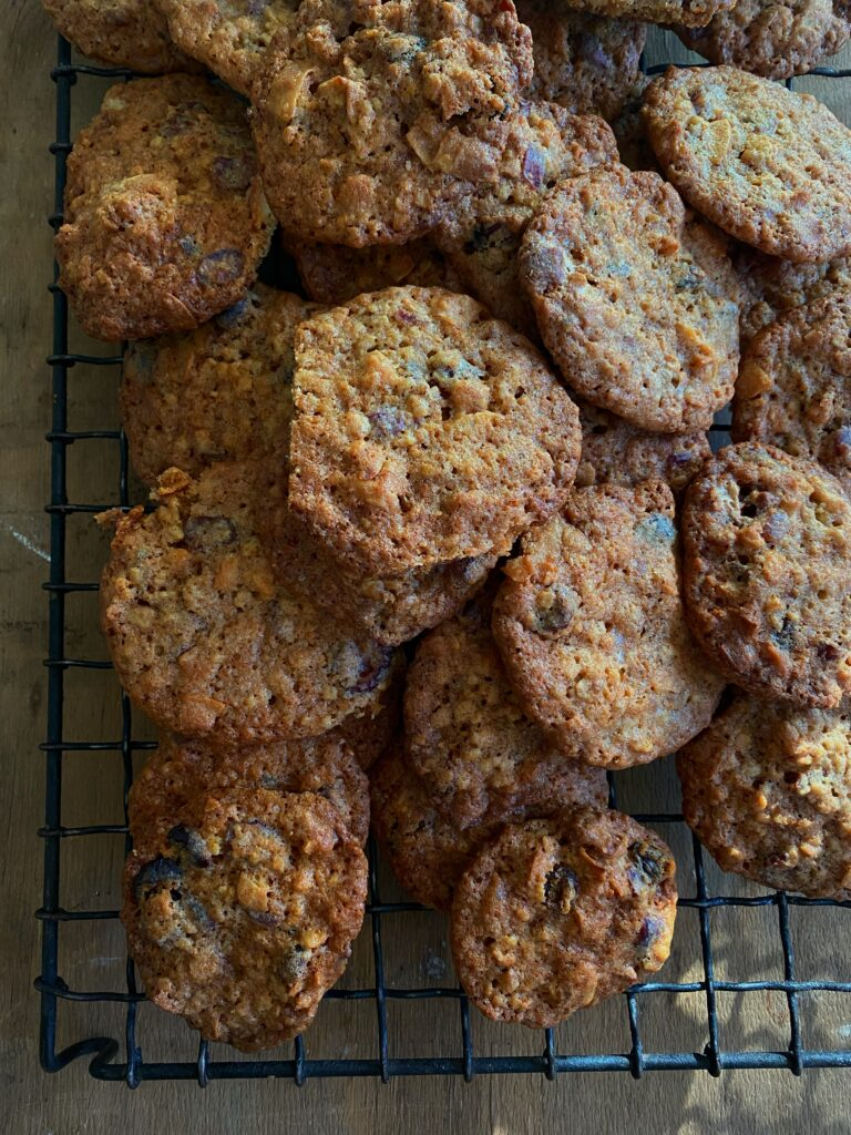 Cranberry Nougat and Pecan Cookies
