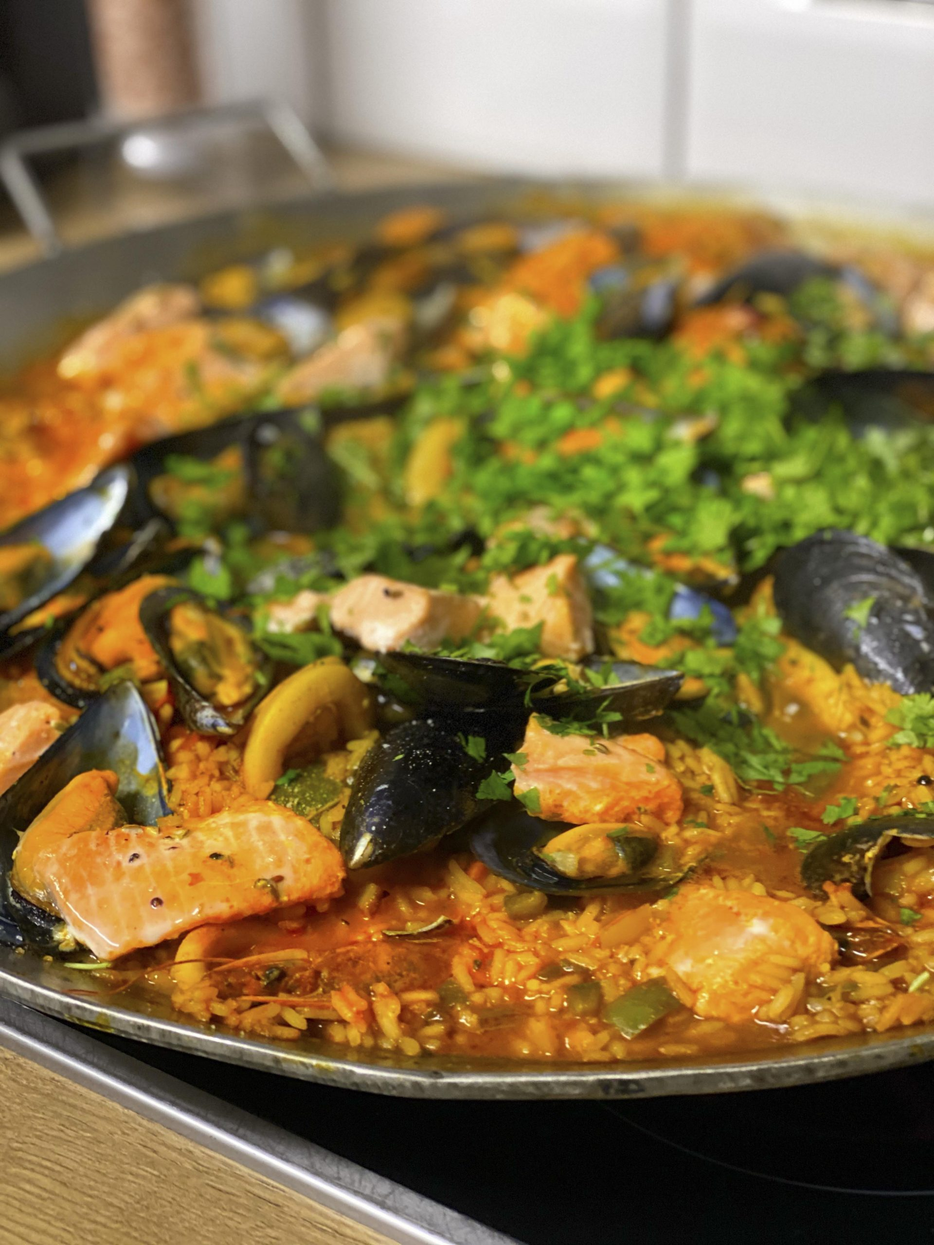 Seafood Paella to feed a crowd